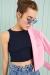 Kırmızı Sırt Dekolte Detaylı Bluz