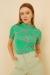 Beyaz Bugs Bunny Baskılı Yırtmaçlı Oversize Tshirt