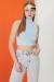 Siyah Bugs Bunny Baskılı Yırtmaçlı Oversize T-shirt