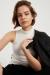 Kadın Ekru Yarım Balıkçı Sıfır Kol Bluz