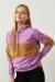 Mor Kapüşonlu Peluş Detaylı Sweatshirt