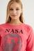Kadın Pembe Nasa Baskılı Sweatshirt