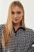 Kazayağı Desenli Yarım Fermuarlı Sweatshirt